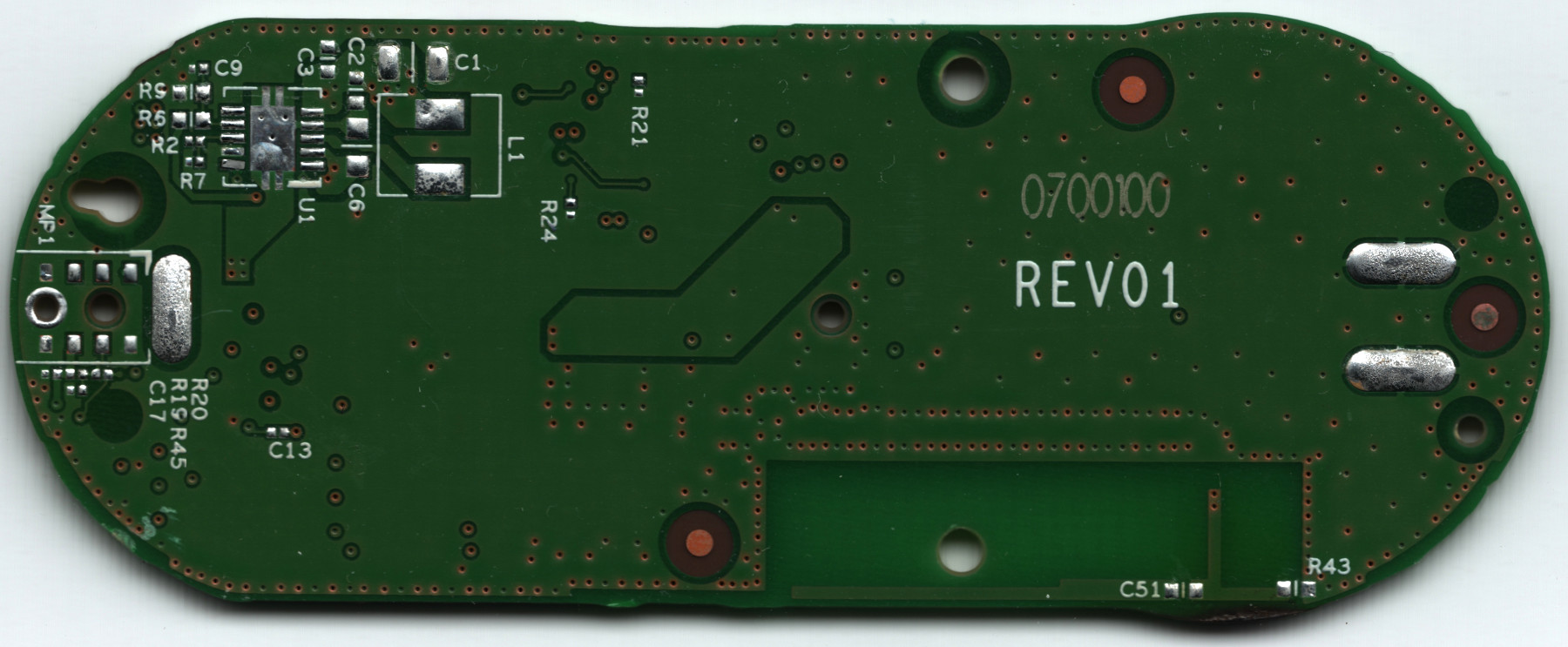 First To Use Removable Printed Circuit Boards Designed For Quick In Amazon Dash Button Teardown Matthew Petroff Back Of Pcb Without Components