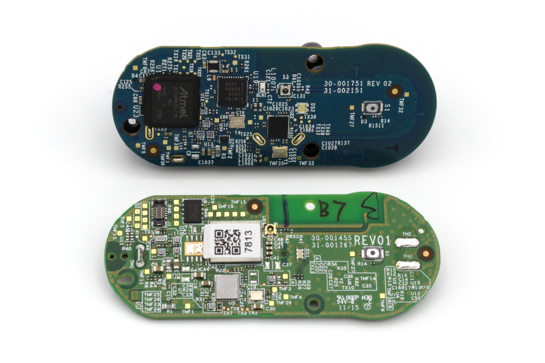 New Amazon Dash Button Teardown Jk29lp Matthew Petroff Circuit Board Barcode Labels Barcoding Blog Comparison Of Top To Old Bottom