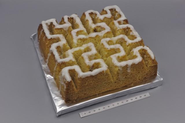 Hilbert curve cake
