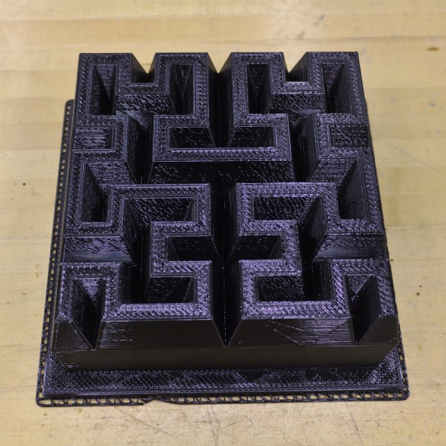 Hilbert curve cake plastic mold bottom