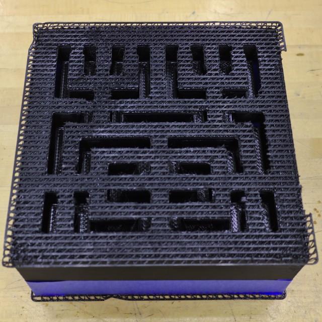 Assembled Hilbert curve cake plastic mold